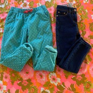 Mini Boden 7Y pants bundle